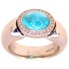 Leyser 950/Platinum Paraiba Tourmaline Diamond Ring