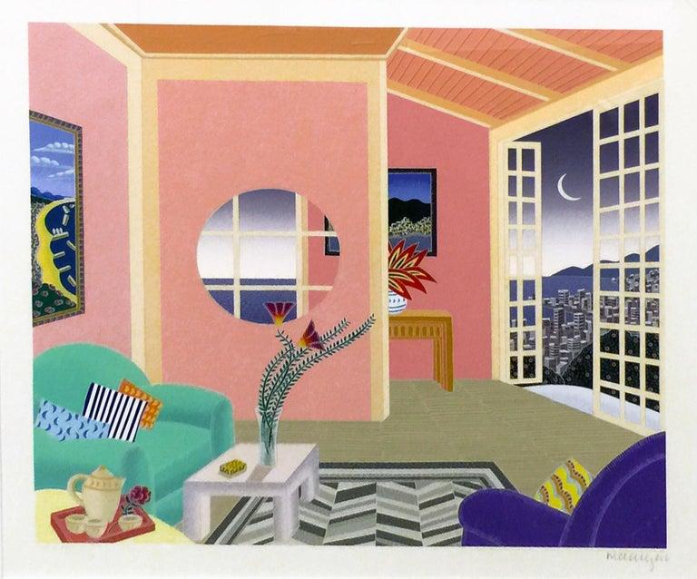 Thomas McKnight Interior Print - KOBE PINK ROOM