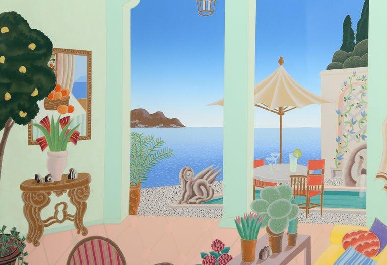 La Jolla, Framed Silkscreen by Thomas McKnight For Sale 1
