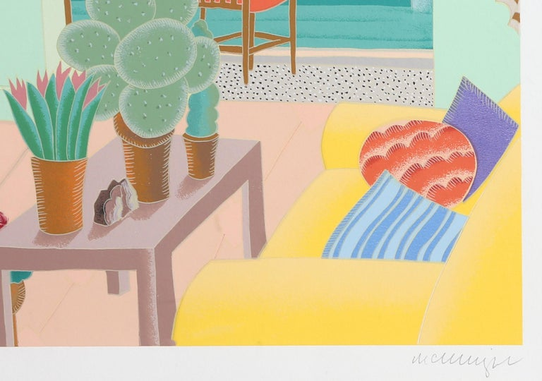 La Jolla, Framed Silkscreen by Thomas McKnight For Sale 3