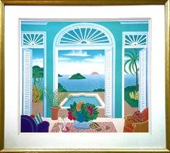Mustique, Framed Silkscreen by Thomas McKnight