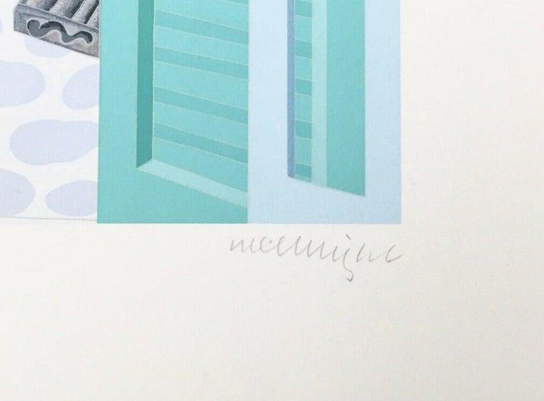 Mykonos Terrace, Limited Edition Silkscreen, Thomas McKnight - Pop Art Print by Thomas McKnight