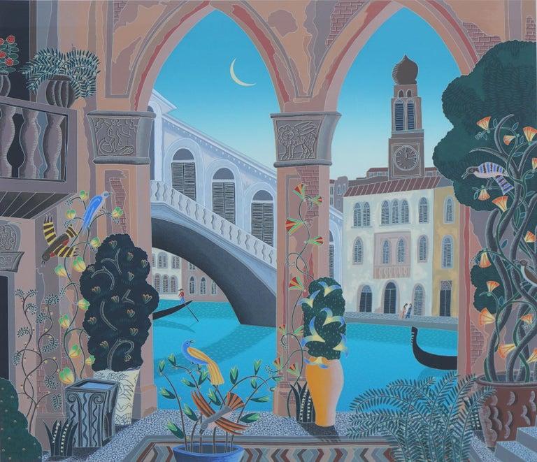 Rialto, Venice Limited Edition Serigraph - Print by Thomas McKnight