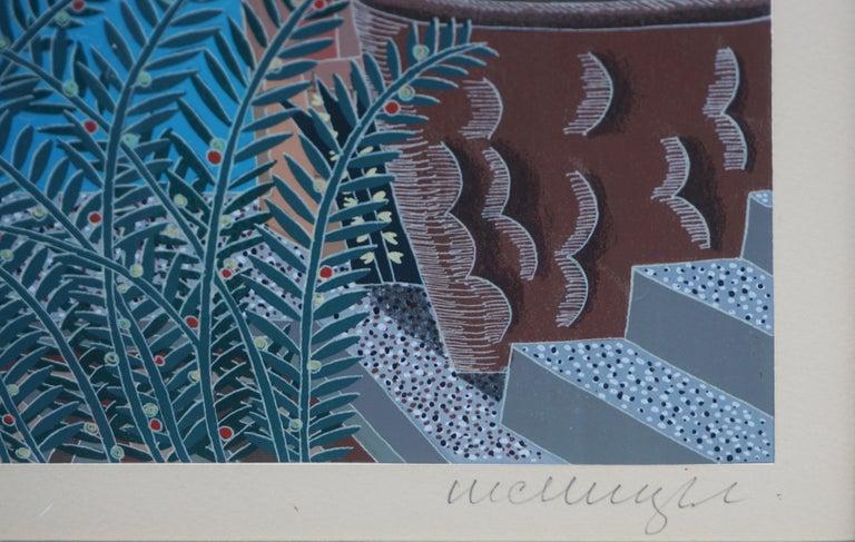 Rialto, Venice Limited Edition Serigraph - Gray Landscape Print by Thomas McKnight