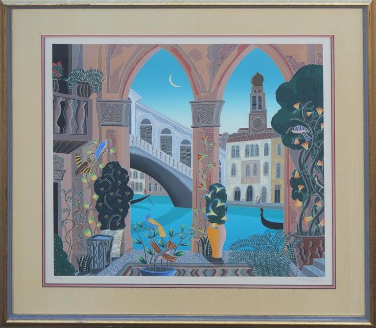Thomas McKnight Landscape Print - Rialto, Venice Limited Edition Serigraph
