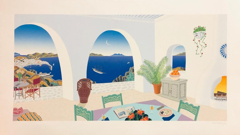 The Bay-Limited Edition Serigraph, Signed by Artist - Print by Thomas McKnight
