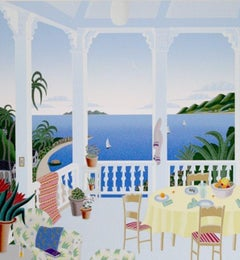 Tropical Evening-Limited Edition Serigraph, Signed by Artist