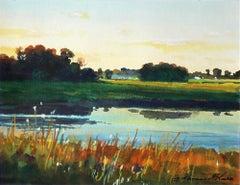 """Calm Morning"" Watercolor Landscape"