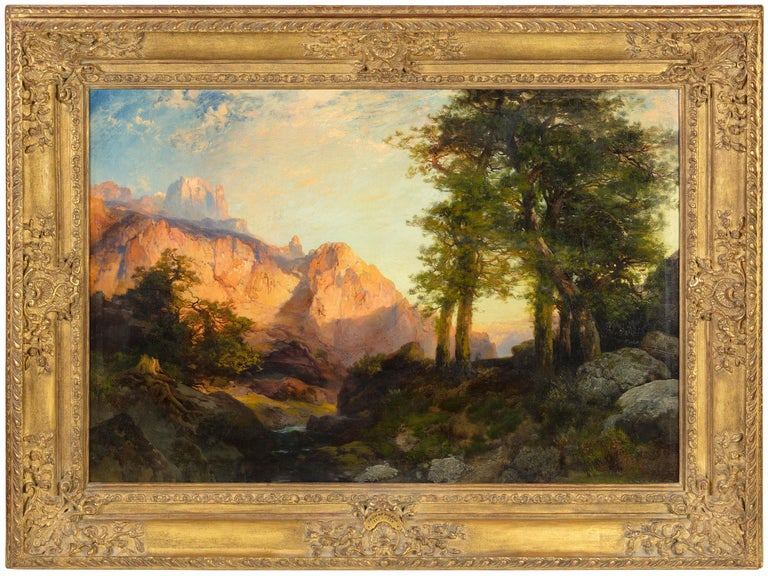 The Great White Throne, Zion - Painting by Thomas Moran