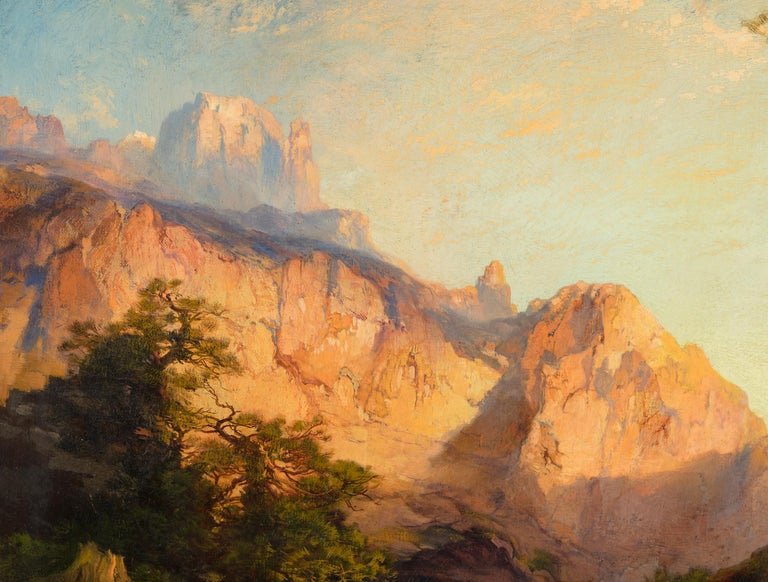 The Great White Throne, Zion - American Impressionist Painting by Thomas Moran