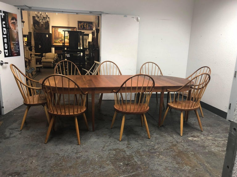 Thomas Moser Cherry Ring Dining Table And Eight Continuous