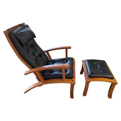 Thomas Moser Lolling Chair and Ottoman, 2000