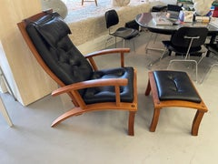 Thomas Moser Lolling Chair and Ottoman 2000