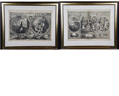 A Pair of Civil War Christmas Thomas Nast Harper's Weekly Woodcut Engravings