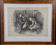 """Christmas Fancies"", Thomas Nast Harper's Weekly Engraving, 19th Century"