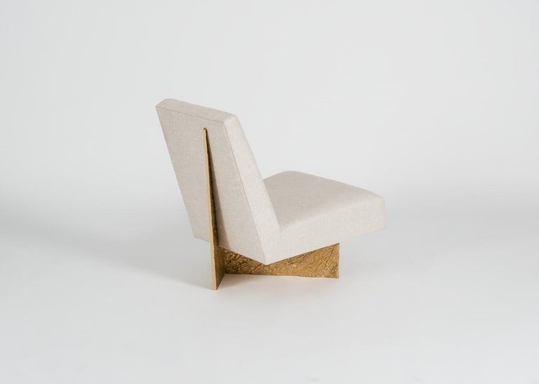 Bronze Thomas Pheasant, Origami, Lounge Chair, United, 2015 For Sale