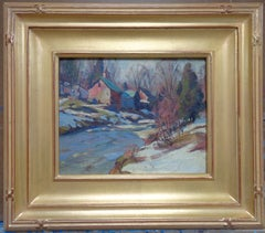 Winter landscape by Thomas Curtin