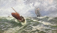 Approaching Storm with White Caps and High Sea