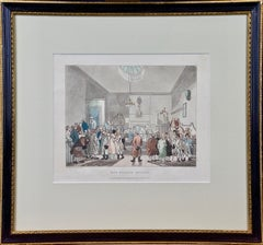 "Hand Colored ""Bow Street Office"" by Rowlandson from ""The Microcosm of London"""