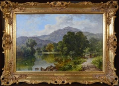 Betws-y-Coed, North Wales - Large 19th Century Welsh Landscape Oil Painting