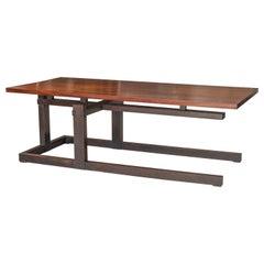 Thomas Swift Studio Cantilever Architectural Designed Low Table, circa 1980