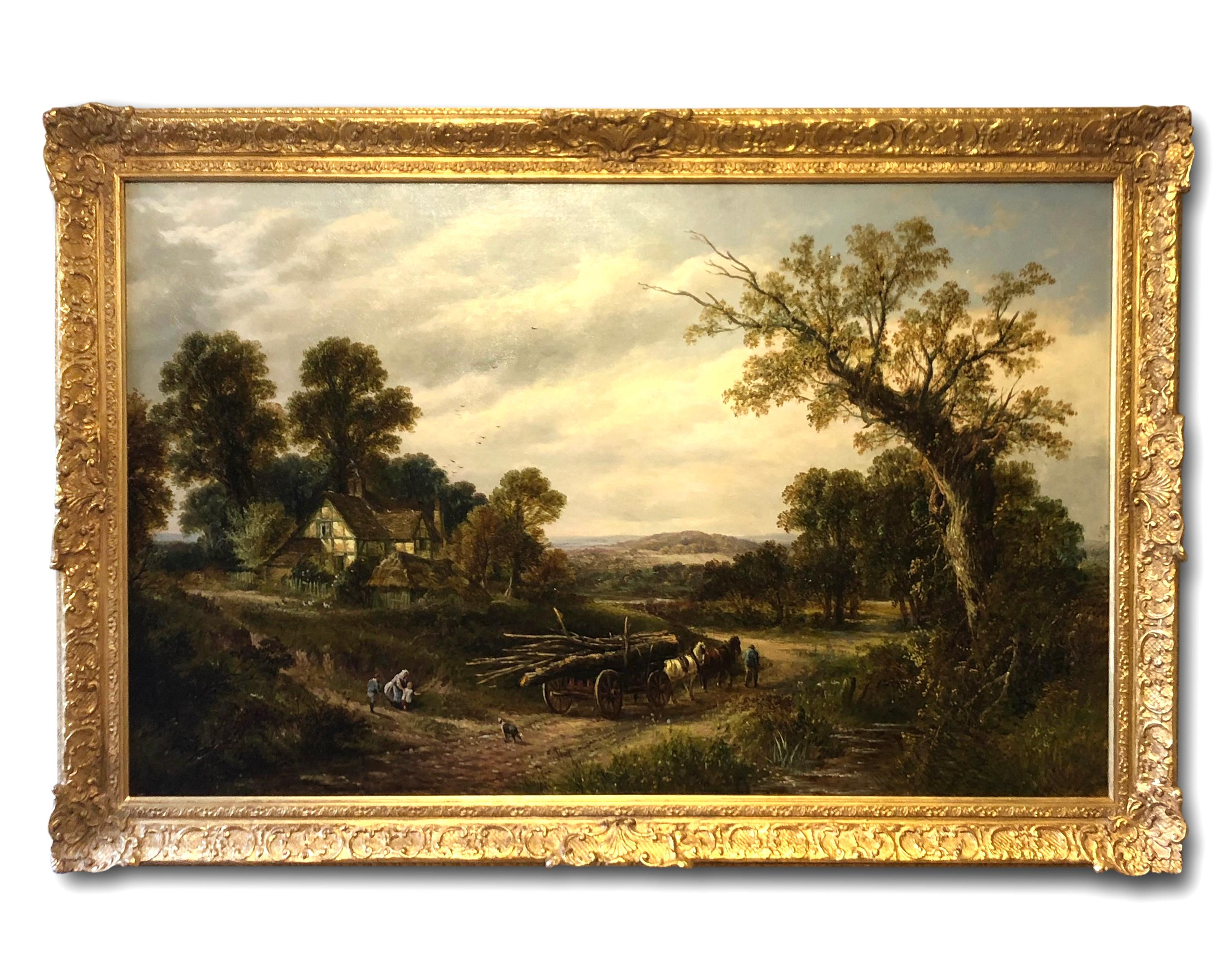 Oil Painting by 19th Century Landscape artist Thomas Thomas