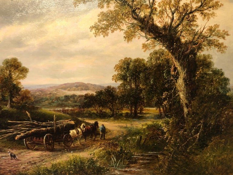 Oil Painting, Landscape by Thomas (British 1821-1892) For Sale 1