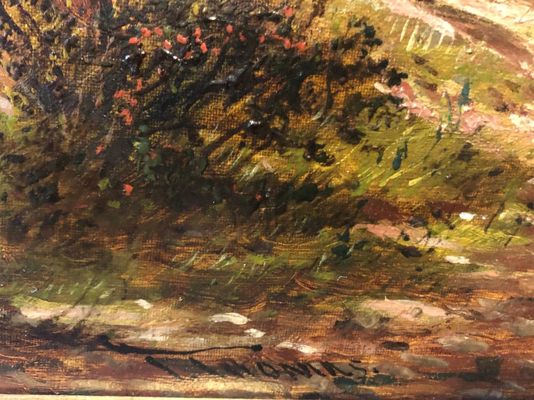 Oil Painting, Landscape by Thomas (British 1821-1892) For Sale 2