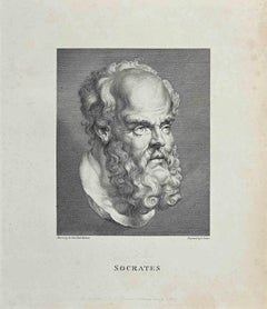 Portrait of Socrates - Original Etching After Thomas Trotter - 1810