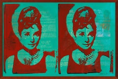 Audrey Hepburn - Thomas Van Housen Contemporary Pop Art Silkscreen Painting