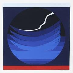 Gate Series Blue, 1980, Silkscreen by Thomas W. Benton