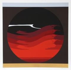 Gate Series Red, 1980, Silkscreen by Thomas W. Benton