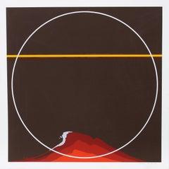 Red Mountain, 1981, Silkscreen by Thomas W. Benton