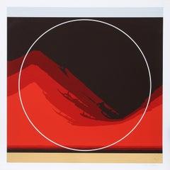 Red Wave, Silkscreen by Thomas W. Benton