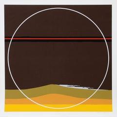Yellow Dunes, Silkscreen by Thomas W. Benton