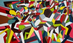 Down with the Thugs Abstract Geometric Art by Thomas Dowdeswell 21st Century Art