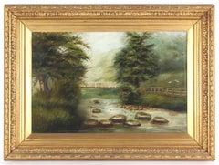 Thomas Watson Gill English Landscape Oil Painting