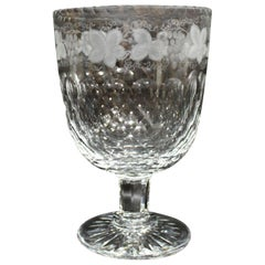 Thomas Webb for Tiffany & Co. Crystal Presentation Piece Goblet or Centerpiece