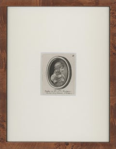 Four 1768 Cameo Etchings by Thomas Worlidge