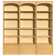 Thomasville Allegro Faux Bamboo 3 Piece Bookcase Wall Set