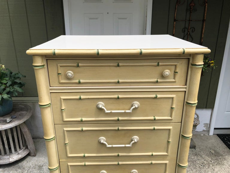 Thomasville Allegro Faux Bamboo Lingerie Chest For Sale 3