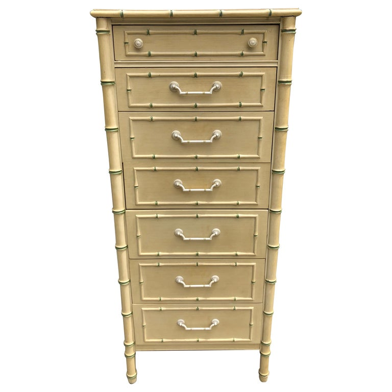 Thomasville Allegro Faux Bamboo Lingerie Chest For Sale