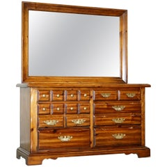 Thomasville Bank Chest of Drawers with Large Mirror Dressing Table