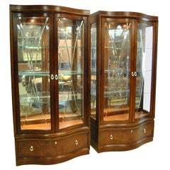 "Thomasville Bogart Collection ""Bel Air"" Mahogany Curio China Display Cabinet"