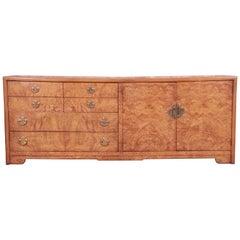 Thomasville Mid-Century Hollywood Regency Chinoiserie Burl Wood Dresser, 1970s