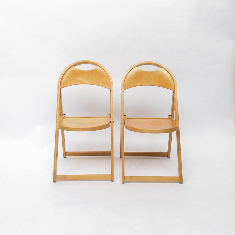 Jugendstil Two Tric Chairs by Castiglioni, Italy, 1970s For Sale