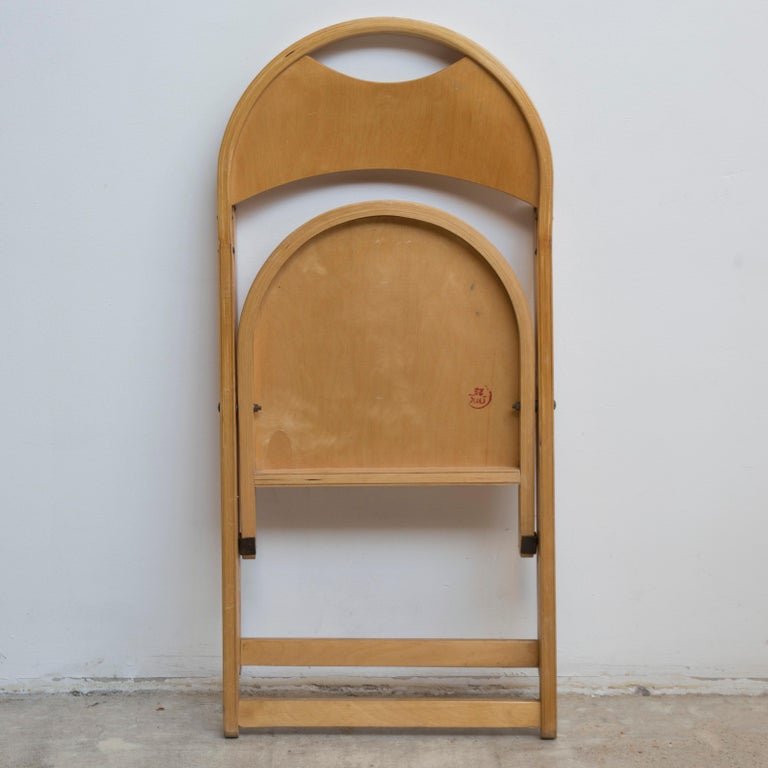 Beech Two Tric Chairs by Castiglioni, Italy, 1970s For Sale