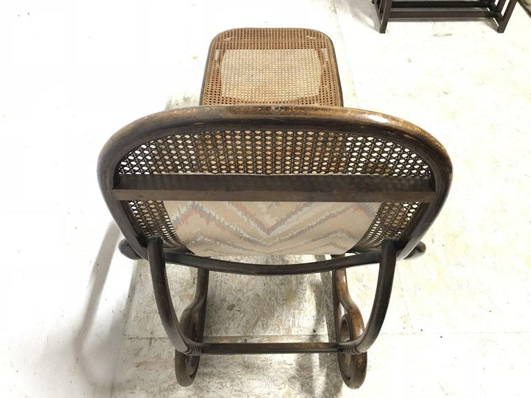 Thonet, a Bentwood Chaise Lounge with Wonderful Scroll Work Details & Cane Work 10