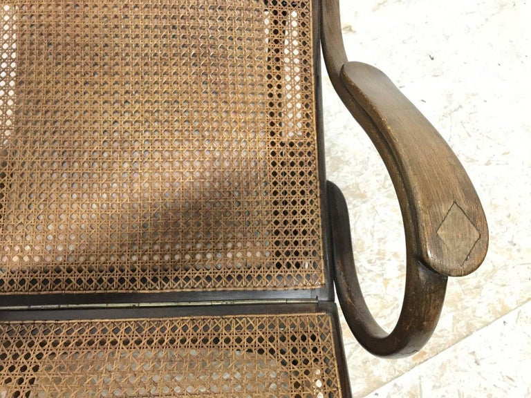 Thonet, a Bentwood Chaise Lounge with Wonderful Scroll Work Details & Cane Work 13