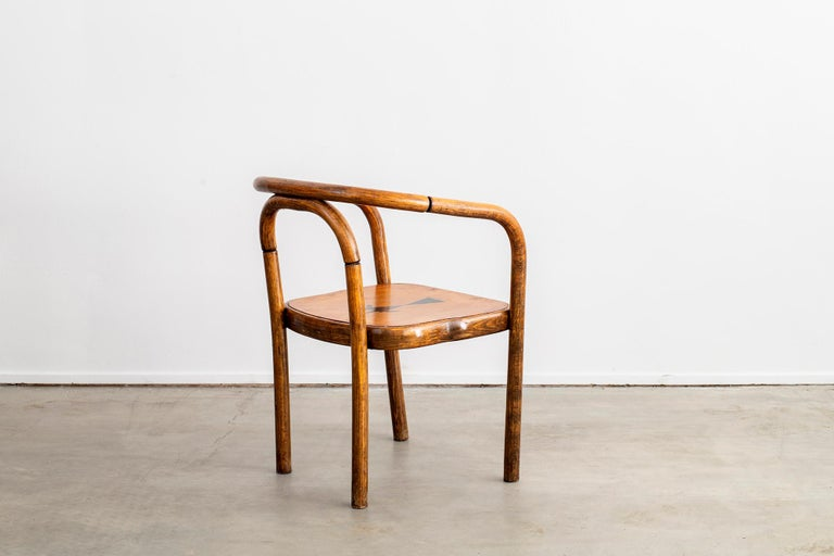 Thonet Armchairs with Ram Inlay Seat For Sale 7